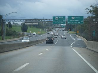 U.S. Route 22 in Pennsylvania - US 22 eastbound at PA 145 interchange in Whitehall Township