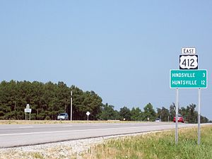 U.S. Route 412 - US 412 near Hindsville, Arkansas.