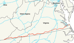 U.S. Route 58 - Image: US 58 map