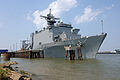 US Navy 050910-N-5526M-004 The dock landing ship USS Tortuga (LSD 46) moored at Naval Support Activity New Orleans in support of Hurricane Katrina humanitarian assistance operations.jpg