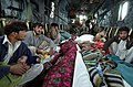 US Navy 051014-N-8796S-175 Injured Pakistanis are transported to medical help aboard a U.S. Navy MH-53E Sea Dragon helicopter.jpg