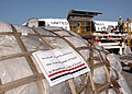 US Navy 051027-N-0775Y-001 A U.S. Navy C-9B Skytrain, assigned to Fleet Logistics Squadron Five Six (VR-56), prepares to load pallets containing blankets and tents donated by the Egyptian government for transportation to Pakist.jpg