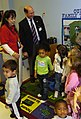 US Navy 060113-N-2568S-043 Secretary of the Navy Dr. Donald C. Winter, visits with children at the Naval Air Station Corpus Christi Child Development Center.jpg
