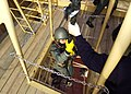 US Navy 070411-N-8493H-014 Sailors in the Moroccan navy conduct fast rope training drills as part of exercise Phoenix Express 2007.jpg