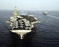 US Navy 070522-N-8157C-738 USS John C. Stennis (CVN 74) and USS Denver (LPD 9) transits through the Gulf of Oman.jpg