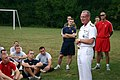US Navy 070830-N-7163S-004 Rear Adm. Ben Wachendorf, U.S. Joint Forces Command Chief of Staff, discusses career opportunities and progression with Miami University Naval Reserve Officer Training Corps (NROTC) midshipmen and Air.jpg