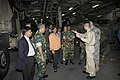 US Navy 071124-N-5142K-171 Cmdr. Peter Pagano, Executive Officer, USS Kearsarge, gives Bangladeshi government and military officials a tour during a humanitarian assistance capabilities brief.jpg