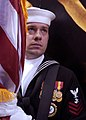 US Navy 081029-N-9362D-002 Navy Counselor1st Class Michael Robinson presents the colors.jpg