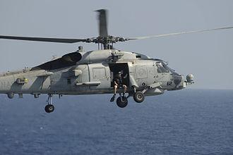 Naval aircrewman - AIRR getting ready to splash