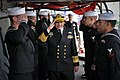 US Navy 100324-N-8590G-005 Chief of Naval Staff of the Pakistan Navy Adm. Noman Bashir departs the guided-missile frigate USS Klakring (FFG 42) after a ship tour.jpg