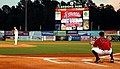 US Navy 100503-N-8497H-101 Rear Adm. Tim Alexander throws the first pitch at the Huntsville Stars vs. Birmingham Barons baseball game at Regions Park during Birmingham Navy Week.jpg