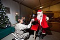 US Navy 101218-N-6383T-874 Chief Equipment Operator Joe Zaleski is dressed as Santa to spread Christmas cheer with Army personnel at Kandahar Air F.jpg