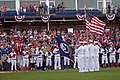 US Navy 110621-N-ZL585-498 A color guard assigned to Navy Operational Support Center (NOSC) Rock Island, Ill., parades the colors during opening ce.jpg