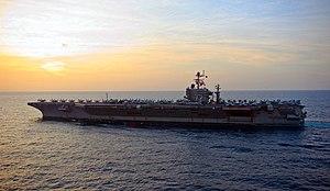 US Navy 120119-N-GC412-001 The Nimitz-class aircraft carrier USS Abraham Lincoln (CVN 72) transits the Arabian Sea.jpg