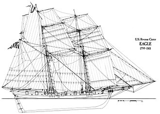 United States Revenue Cutter Service - USRC Eagle commanded the best wartime record of captures for any U.S. vessel during the Quasi-War.