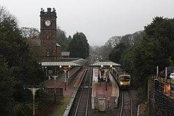 Ulverston - TPE 185108 Arriva service to Manchester.JPG