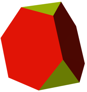 Rectified truncated tetrahedron - Image: Uniform polyhedron 33 t 01