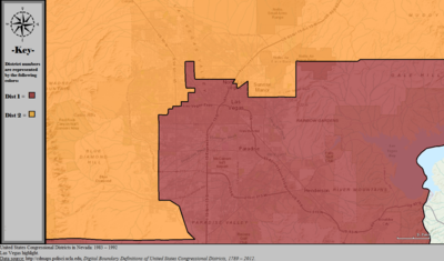 United States Congressional Districts in Nevada (metro highlight), 1983 – 1992.tif