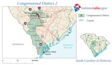 United States House of Representatives, South Carolina District 2 map.png