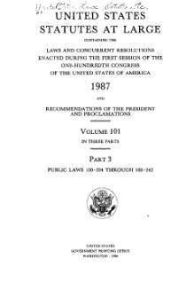 United States Statutes at Large Volume 101 Part 3.djvu