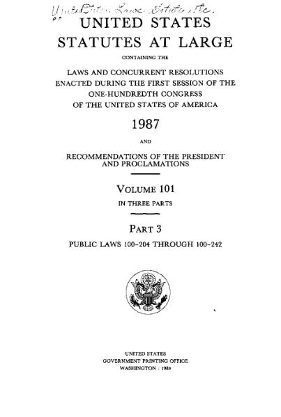 File:United States Statutes at Large Volume 101 Part 3.djvu