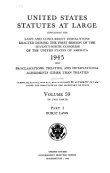 United States Statutes at Large Volume 59 Part 1.djvu