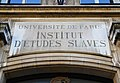 Université de Paris, Institut d'études slaves - 9 rue Michelet, Paris 6.jpg