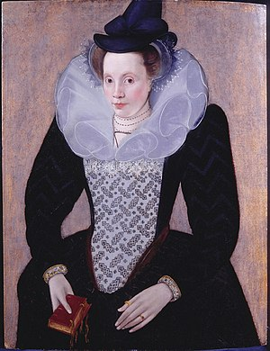 Capotain - Image: Unknown Lady Robert Peake c 1592