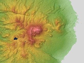 Mount Unzen - Relief Map of Unzen Volcano
