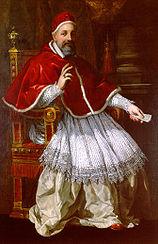 Pope Urban VIII in a portrait painting by Pietro da Cortona
