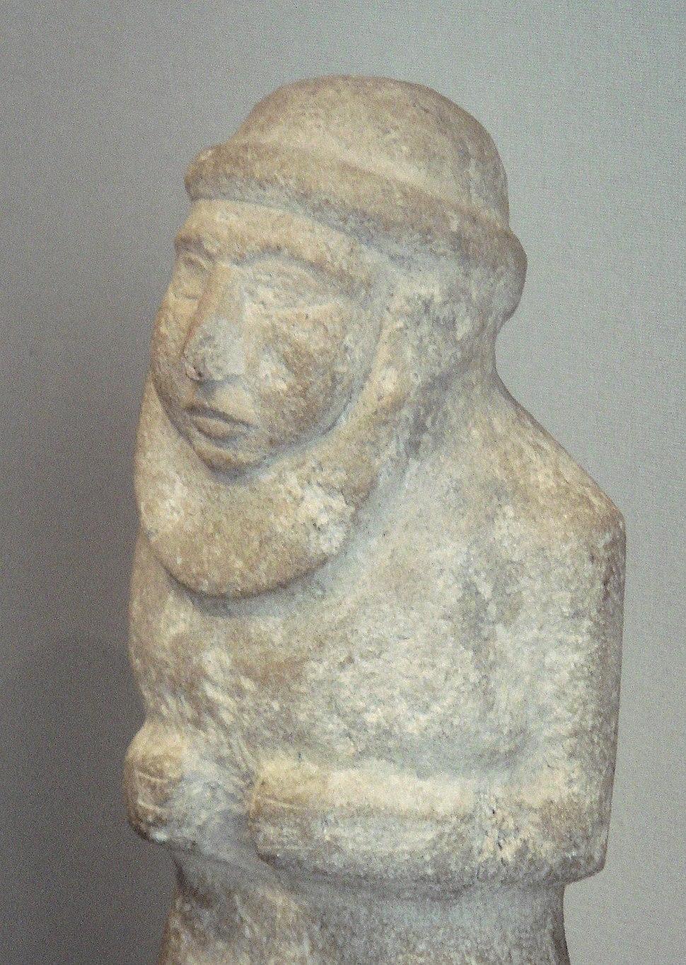 Uruk King-Priest 3300 BCE portrait detail