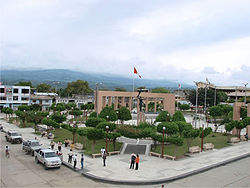 Main plaza of Bagua Grande
