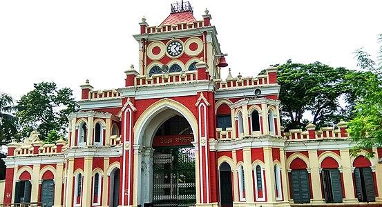 বাংলা: দিঘাপতিয়া রাজবাড়ি (উত্তরা গণভবন)English: The Uttara Ganabhaban (meaning Northern People's House) is an 18th-century (1734) a royal palace also known as Jaminder country house and retreat, it was made by Raja Doyaram who was the Dewan (like minister) of Rani Bhavanee        This is a photo of a monument in Bangladesh identified by the ID BD-E-44-36