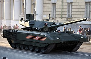 T-14 Armata - A Russian Army T-14 Armata tank in rehearsal for Victory Day celebrations.