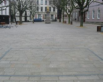 Battle of Jersey - The Royal Square, as seen here today, was the scene of the Battle of Jersey.