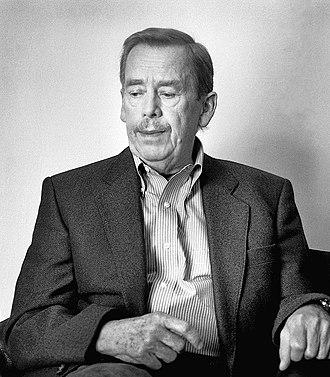 Václav Havel - Image: Vaclav Havel cropped