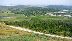 Azekah - Valley of Elah viewed from the top of Tel Azeka.