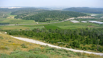 Valley of Elah - Valley of Elah viewed from the top of Tel Azeka.