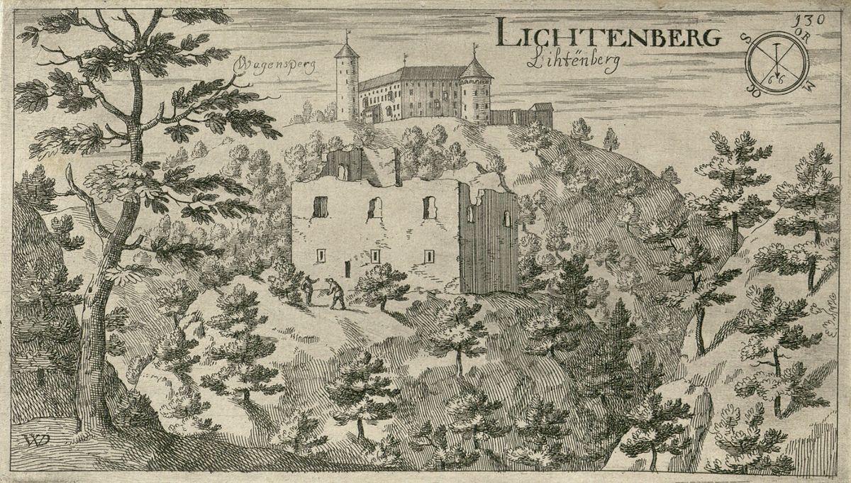 Resultado de imagen de grad Lichtenberg valvasor