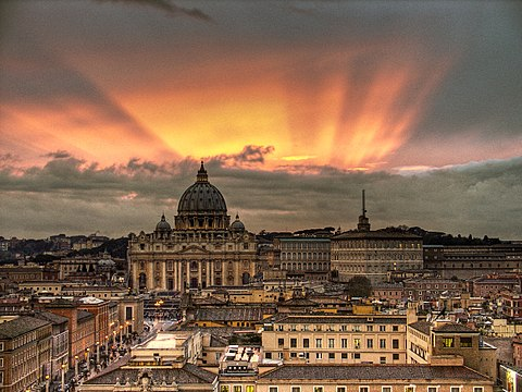 Vatican Sunset Rome Italy Easter