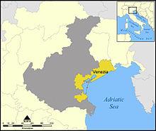 Localizzazione della provincia nella Regione Veneto