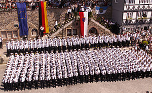 Hesse State Police - Swearing-in ceremony of Hessian police officers at the Hessentag in Homberg (Efze), 2008