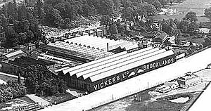 Brooklands - The Vickers factory at Brooklands.