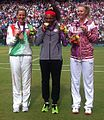Victoria Azarenka, Serena Williams and Maria Sharapova with medals 2012 (cropped).jpg