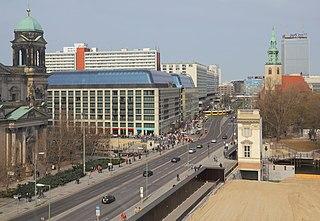 major street in Berlin.Mitte, Germany