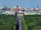 View of the Brandenburg Gate from Victory Column. Berlin, Germany.jpg