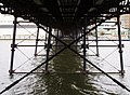 View under Pier, Marine Lake Southport - geograph.org.uk - 1447508.jpg