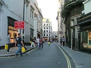 Vigo Street street in London