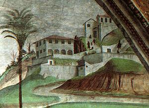 Villa Medici in Fiesole - Image: Villa medici a fiesole (dettaglio), dormitio virginis domenico ghirlandaio cappella tornabuoni SMN
