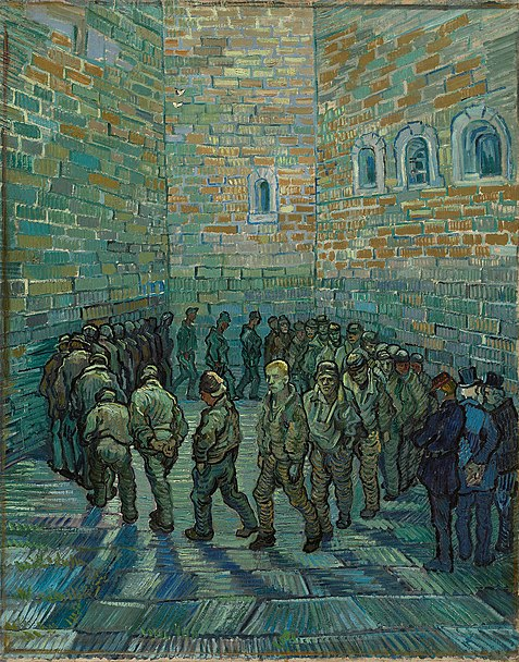 Autorretrato de Van Gogh en la prisión de locos